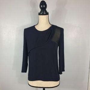 SANDRO Paris Dark Blue Blouse   Size: 1 / Small